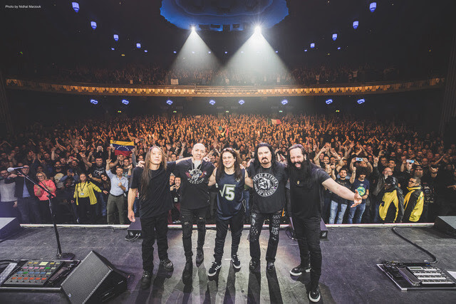 Dream Theater in fron of Crowd after show picture